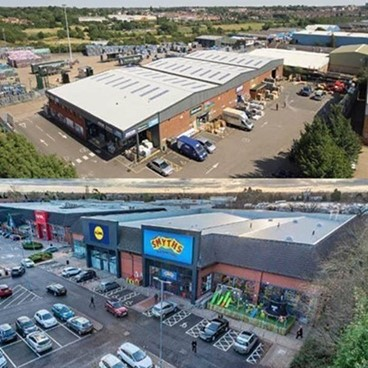 DTZ Investors completes a double acquisition of assets in Northampton and Solihull totalling £14.3m.